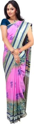 SRK GROUPS Printed Fashion Chiffon Sari