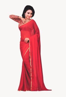 freshboss Solid Coimbatore Chiffon Sari