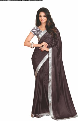 Palav Fabrics Embriodered, Plain, Embellished Fashion Lycra Sari