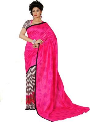 365 Labels Printed Mangalagiri Art Silk Sari