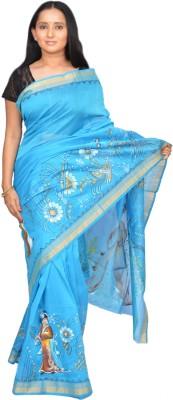 Siri Arts Printed Kota Doria Handloom Silk Sari