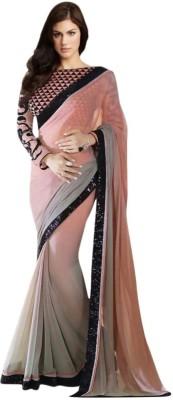 manjula feb Embriodered Bollywood Georgette Sari