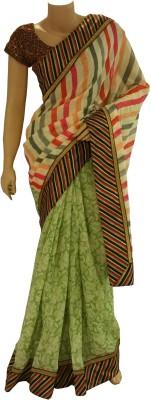 BEAUVILLE VAIIBAVAM Printed Fashion Jute Sari