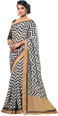 Nanda Silk Mills Self Design Bollywood Cotton, Silk Sari