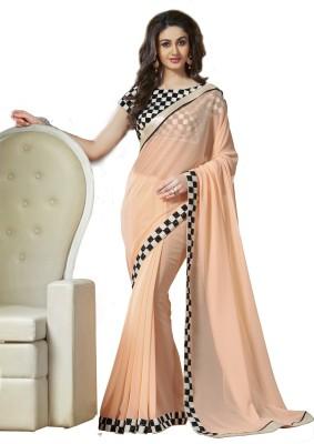 Wowcreation Checkered Bollywood Handloom Viscose Sari