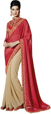 The Ethnic Chic Embellished Fashion Georgette Sari