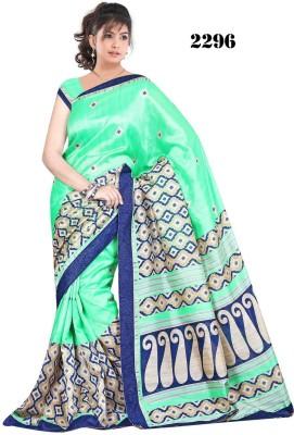 Zeven Fouten Floral Print Bhagalpuri Banarasi Silk Sari