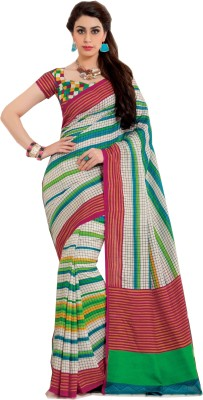 Swaman Striped Fashion Jute Sari