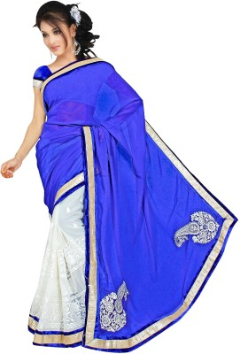 Kushbo Solid Bollywood Georgette Sari