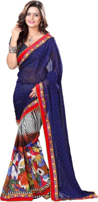 Heer Ganga Printed Fashion Handloom Georgette Sari
