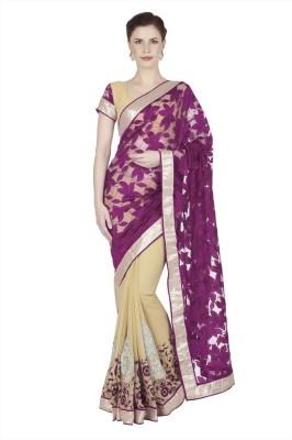 Designersareez Embriodered Fashion Net, Chiffon Sari
