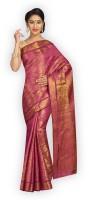 Alankrita Self Design Kanjivaram Art Silk, Jacquard, Chanderi, Nylon Saree(Pink)