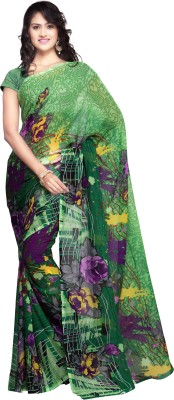 Luxuria Embellished Daily Wear Georgette Sari