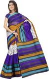 Saran Striped Daily Wear Handloom Polyco...