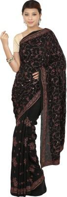 Gopalka Prints Embriodered Fashion Handloom Crepe Sari