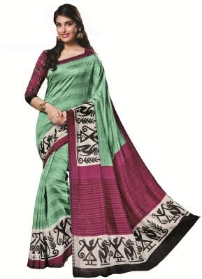 Padam Shree Printed Bhagalpuri Art Silk Sari