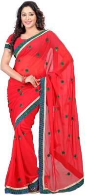 DK Fashion Solid Bollywood Chiffon Sari