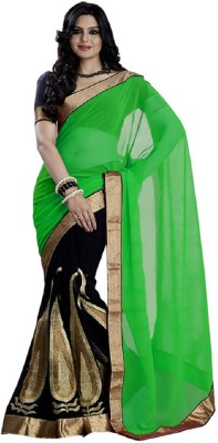 Radhe Krishna Creation Embriodered Bollywood Chiffon Sari