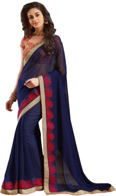 Sarika Fashion Embriodered Fashion Georgette Sari