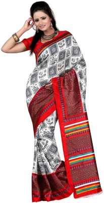 Aarnas Fashion Printed Fashion Art Silk Sari