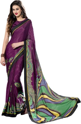 Roop Kashish Embellished Bollywood Crepe, Jacquard Sari