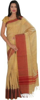 IndusDiva Striped Fashion Cotton Sari