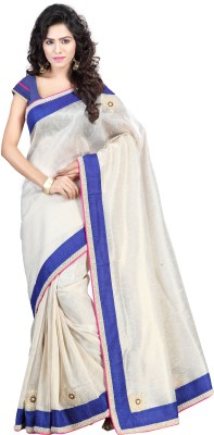 Kashish Lifestyle Self Design Fashion Handloom Jute Sari