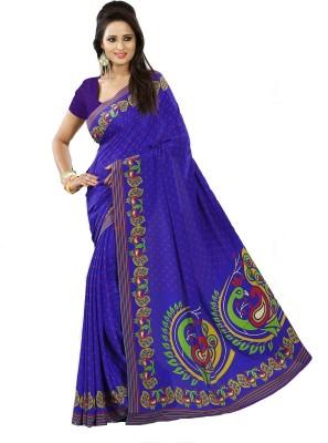 Kunal Self Design Bollywood Crepe Sari