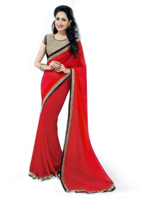 Vishal Saree Solid Bollywood Chiffon Sari