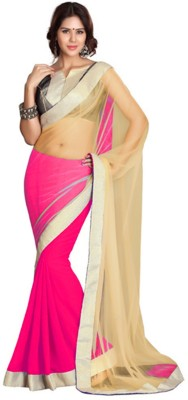 Ethnic And Style Plain Fashion Net, Georgette Sari