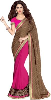 Shoppingover Embriodered Bollywood Handloom Chiffon Sari