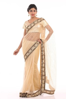 Chhabra 555 Solid Fashion Net Sari