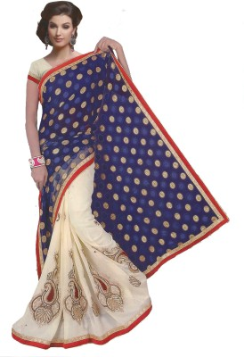 Angels Collections Embriodered Bollywood Georgette Sari