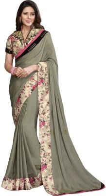 Amayra Fashions Embellished, Self Design, Solid Fashion Georgette Sari