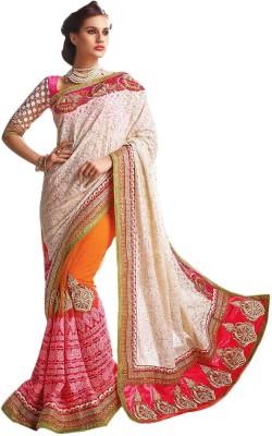 Fab Fashion Studio Embriodered Fashion Georgette Sari