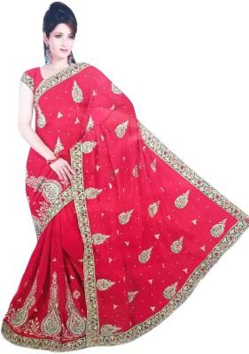 Vivah Embriodered, Embellished Bollywood Georgette Sari
