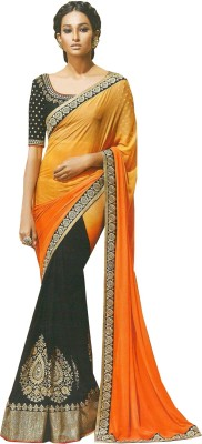 TriveniCreation Printed Bollywood Georgette Sari