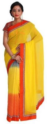 Nav Durga Solid, Embellished, Applique Fashion Art Silk Sari