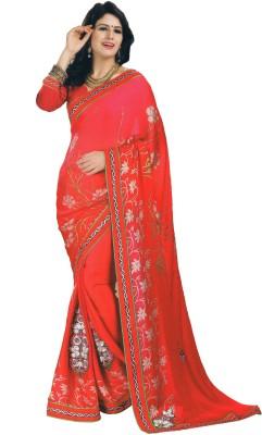 Sarika Fashion Embriodered, Printed Fashion Chiffon, Satin Sari