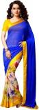 Glory Sarees Floral Print Bollywood Geor...