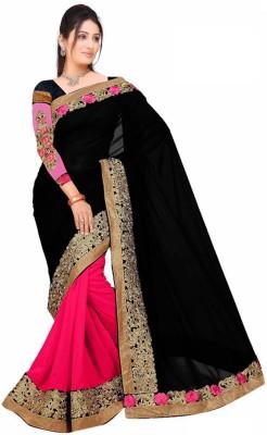 Festivemall Embriodered Fashion Georgette Sari