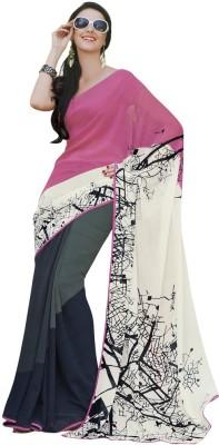 Vastrangsarees Printed Fashion Georgette Sari