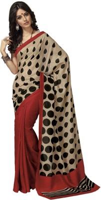 Vedhas Polka Print Daily Wear Art Silk Sari