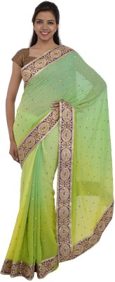 Inspira Solid Fashion Georgette Sari