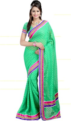 Sanju Sarees Self Design Fashion Brasso Fabric Sari