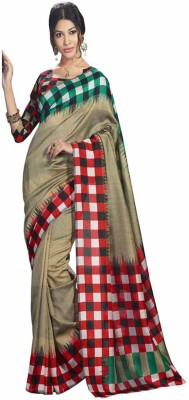 Punam Fashion Checkered Mangalagiri Poly Silk Sari