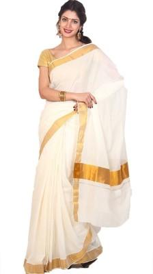 JISB Plain Coimbatore Cotton Sari