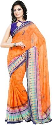 Cenizas Printed Fashion Georgette Sari