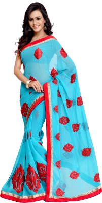Hraj Fashion Self Design Bollywood Georgette Sari