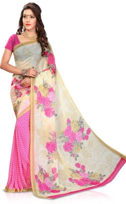 Womanethnicwear Printed Daily Wear Georgette Sari